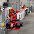 Charles Leclerc在摩纳哥大奖赛的崩溃。摩纳哥5月2021年