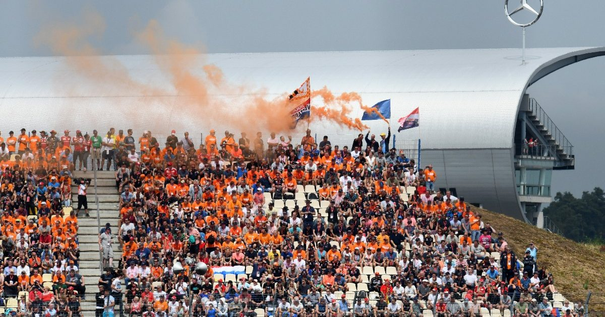 Dutch fans at the German Grand Prix. Germany July 2018