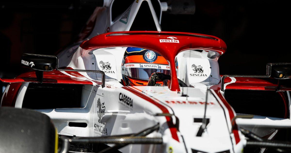 Kimi Raikkonen leaves Alfa Romeo garage. Hungary July 2021
