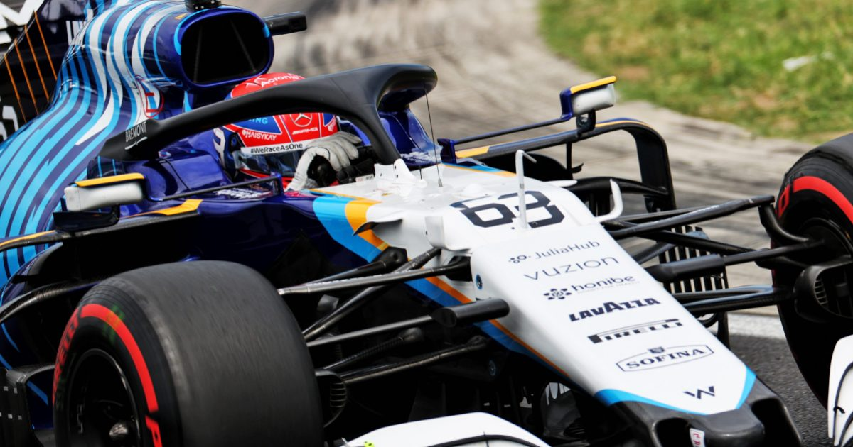 George Russell driving his Williams at the Hungarian GP. Hungary July 2021