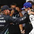 Lewis Hamilton congratulates Esteban Ocon in Hungary. Hungary August 2021