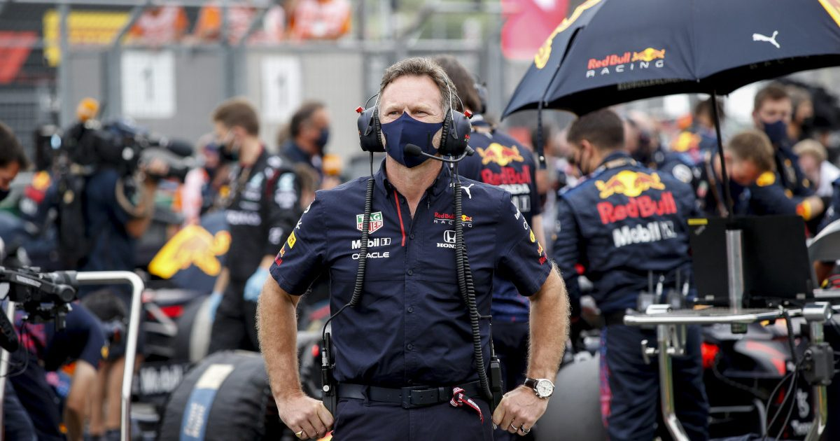 Christian Horner on the grid in Hungary. Hungary August 2021.
