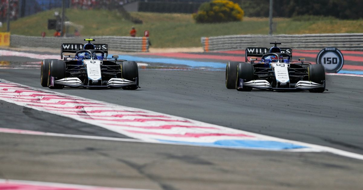 George Russell and Nicholas Latifi at the French Grand Prix. France June 2021