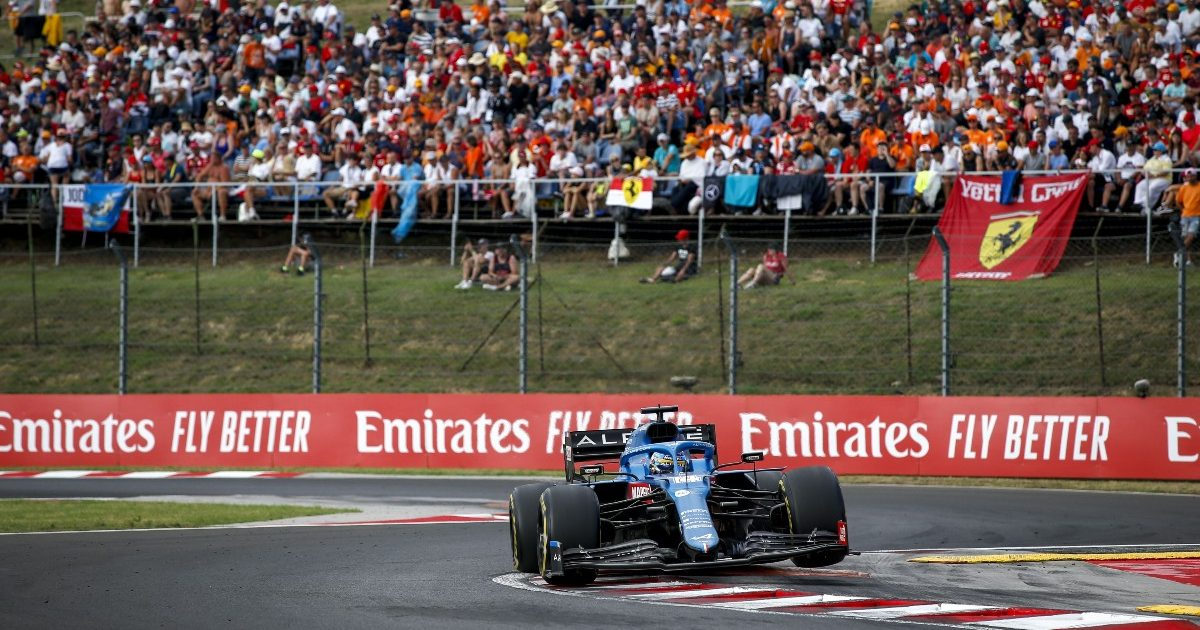 Fernando Alonso at the Hungarian Grand Prix. Hungary August 2021