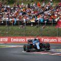 Fernando Alonso在匈牙利大奖赛中。匈牙利八月2021年