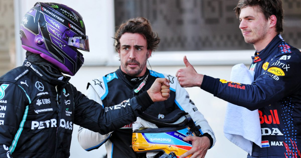 Lewis Hamilton Fernando Alonso Max Verstappen Baku qualifying. Azerbaijan June 2021