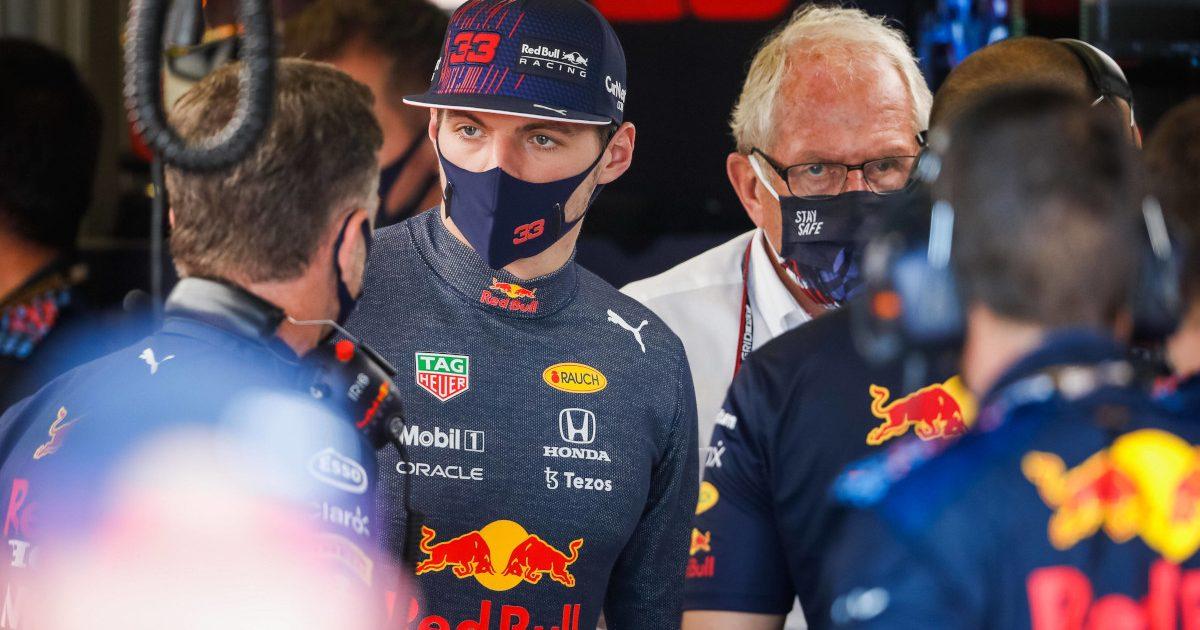 Max Verstappen Christian Horner Helmut Marko British GP. England July 2021