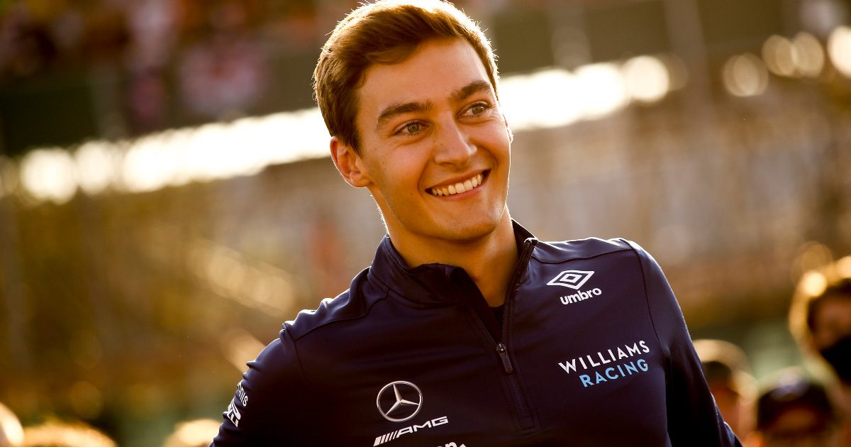 George Russell smiling at his home race. Britain, July 2021.