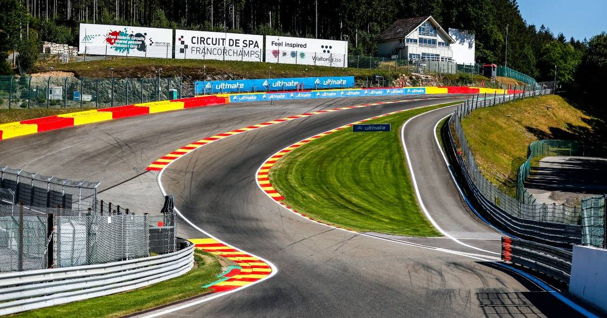 A view of the Eau Rouge and Raidillon corners at Spa-Francorchamps. Belgium, July 2020.