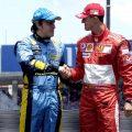 Fernando Alonso and Michael Schumacher. 2006.