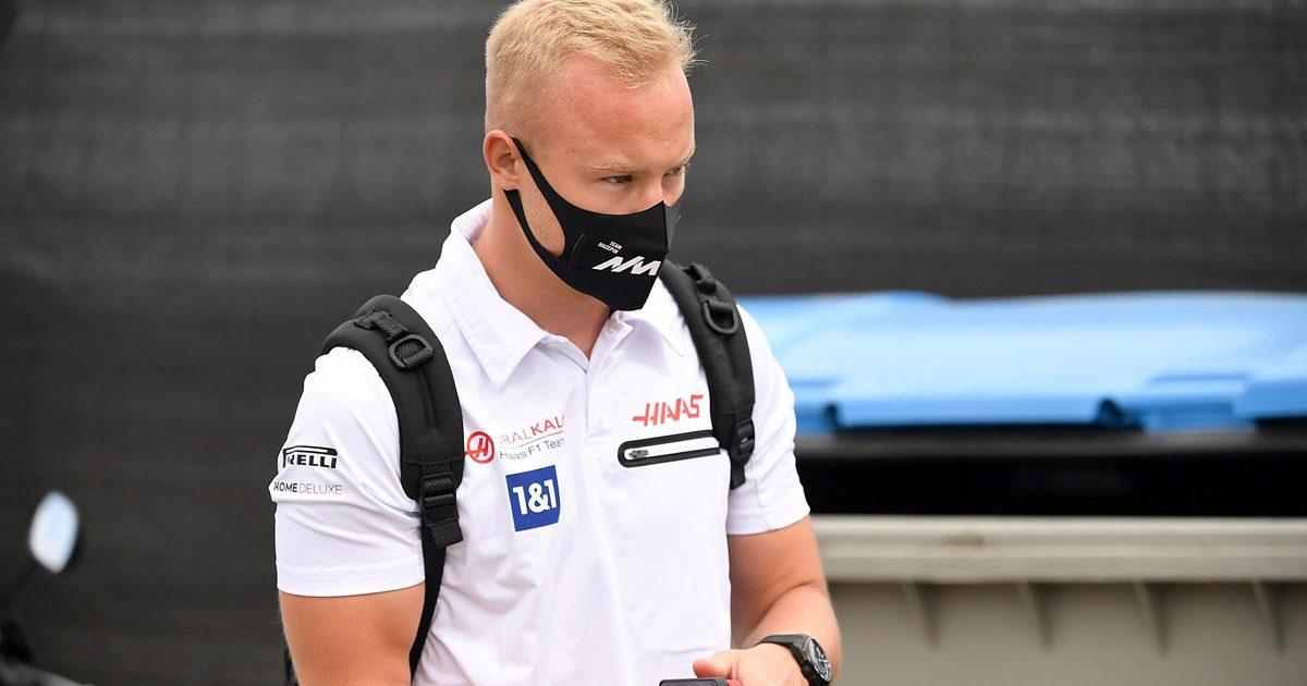 Nikita Mazepin in the paddock. Hungarian GP 2021.