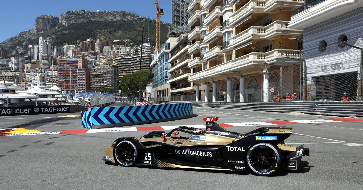 Jean-Eric Vergne tackles the Monaco chicane. May, 2021.
