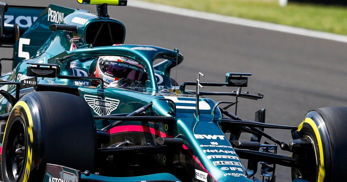 Sebastian Vettel and Aston Martin AMR21. Hungary August 2021