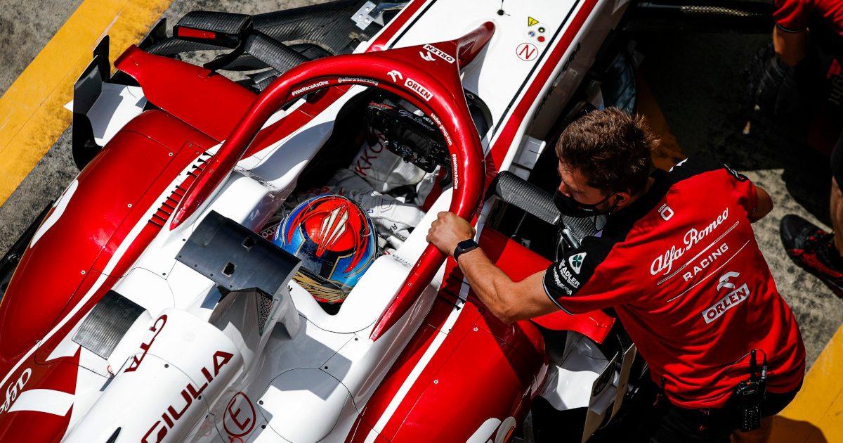 Kimi Raikkonen in his Alfa Romeo. Austria July 2021