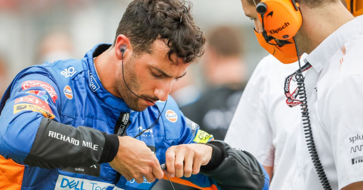 Daniel Ricciardo on the Hungarian GP grid. Hungary August 2021