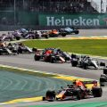 Max Verstappen leads Brazilian GP. Brazil November 2019