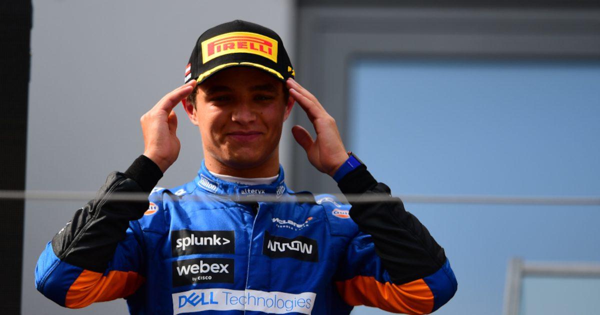 Lando Norris podium. Austria July 2021