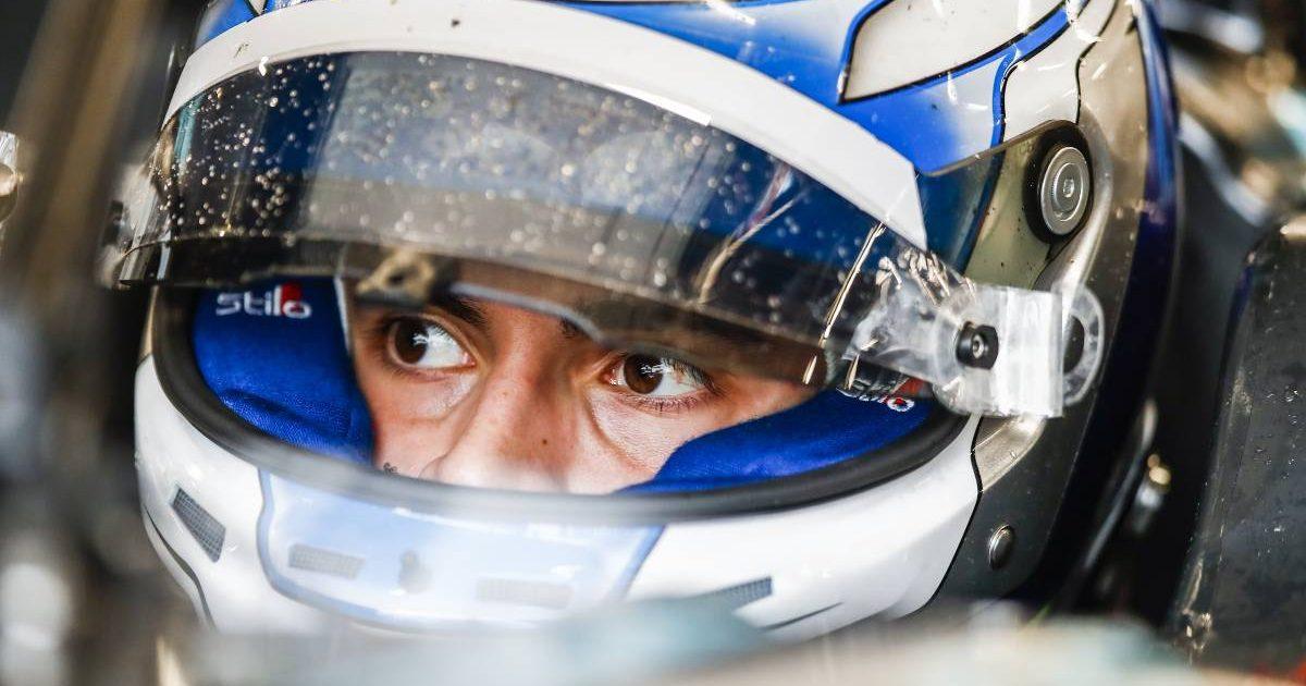 Matteo Nannini in crash helmet. Barcelona April 2021.