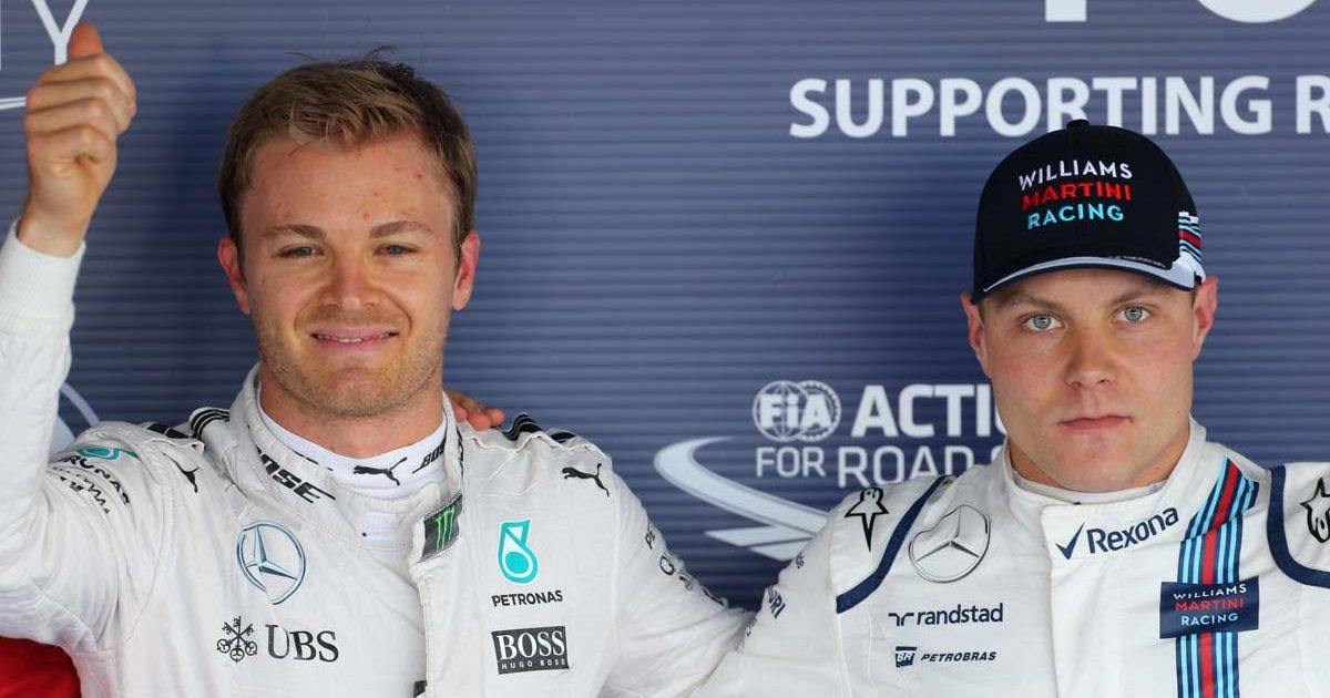 Nico Rosberg and Valtteri Bottas after qualifying