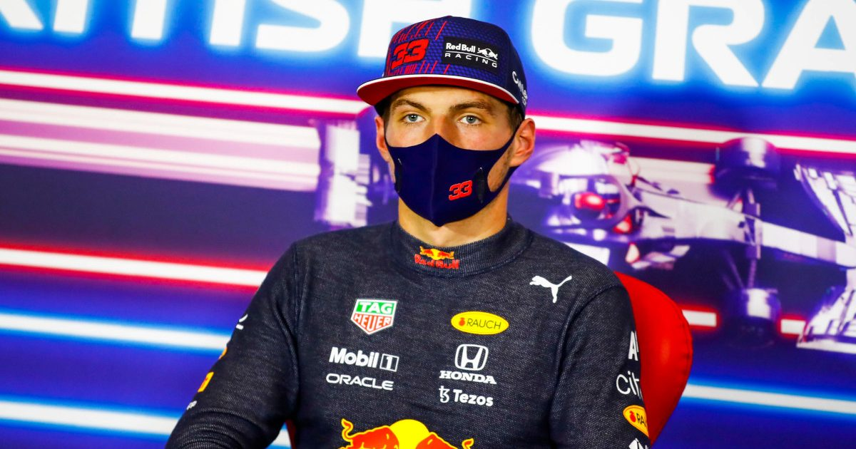 Max Verstappen post qualifying press conference. Britain July 2021