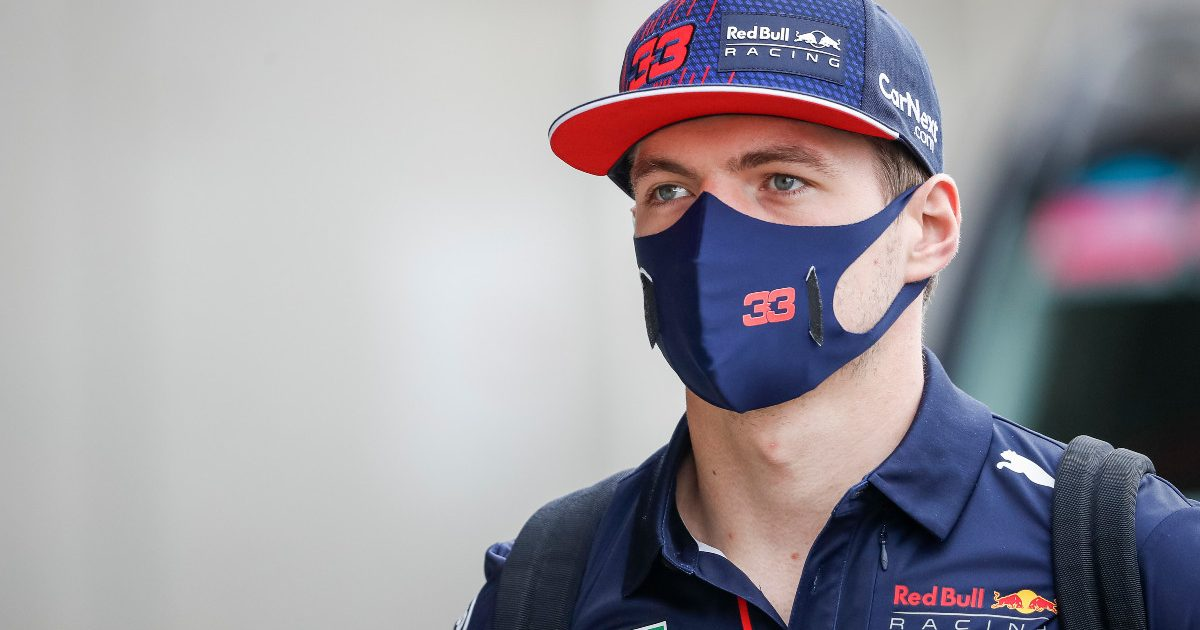 Red Bull's Max Verstappen in the Hungary paddock. July, 2021.