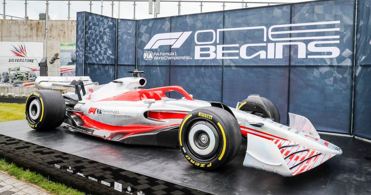 F1 2022 car. Britain July 2021
