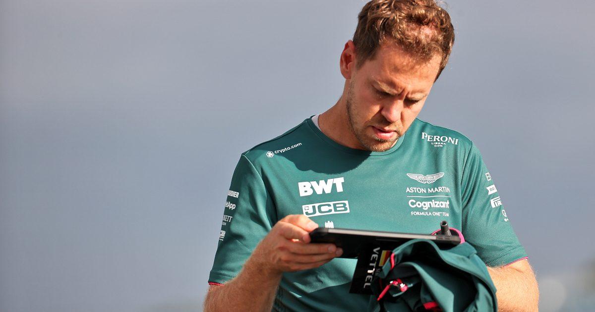 Sebastian Vettel reading. Britain July 2021