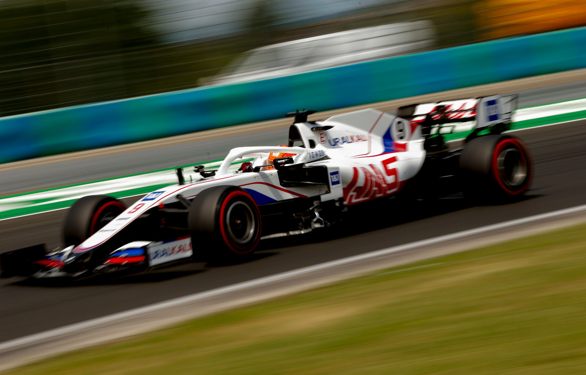 Nikita Mazepin in action for Haas. Hungary, July 2021.