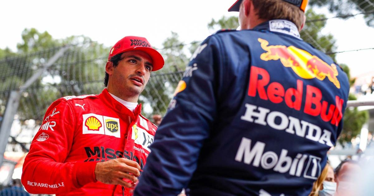 Carlos Sainz and Max Verstappen chat in Monaco.