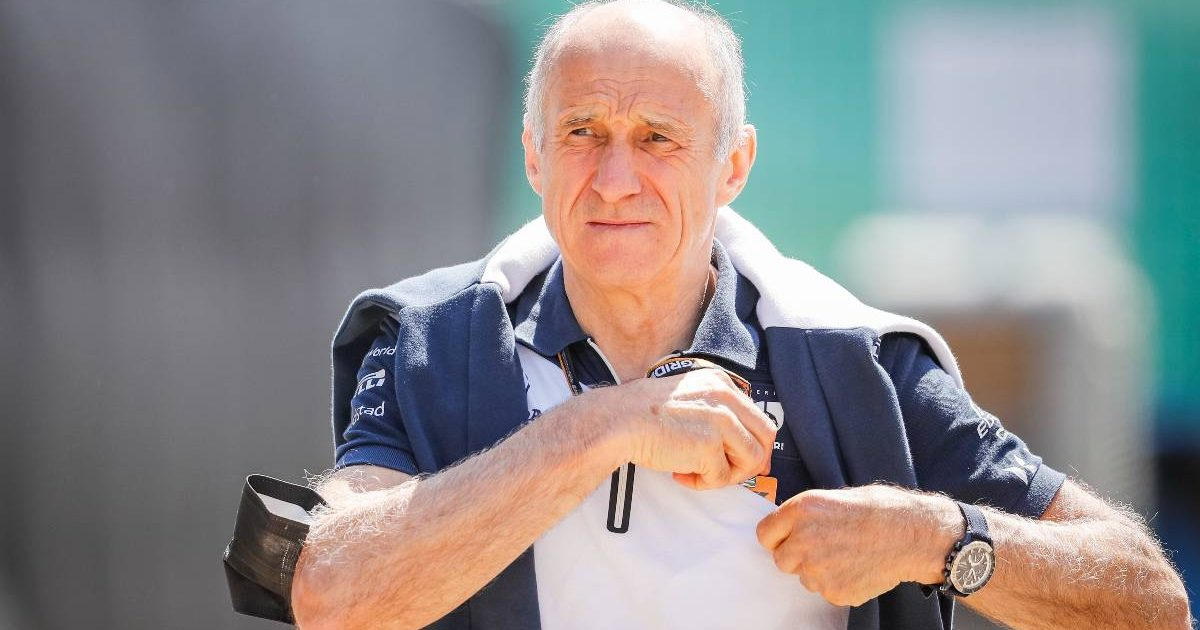 Franz Tost, AlphaTauri principal, without a mask at the British GP. July 2021