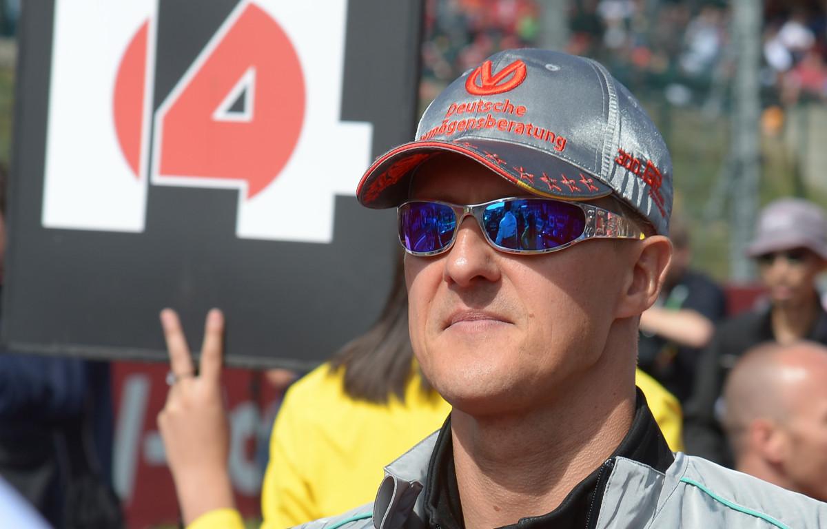 Mercedes' Michael Schumacher before the Belgian Grand Prix. September 2012.