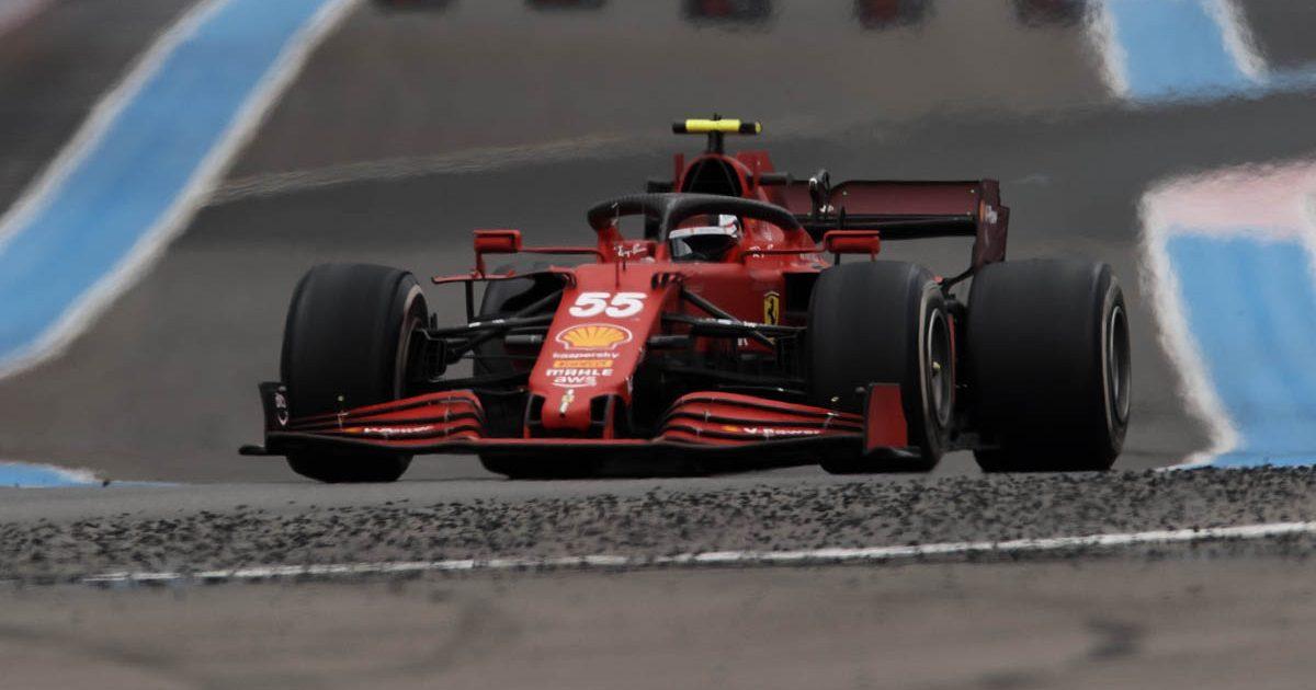 Ferrari driver Carlos Sainz at the French GP. June 2021.