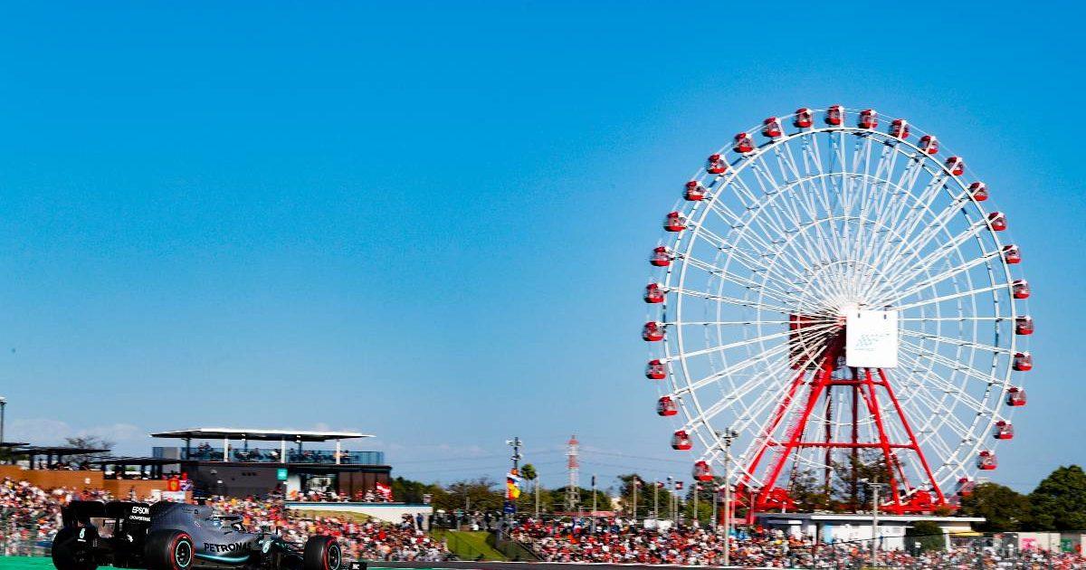 Valtteri Bottas on his way to winning the Japanese GP. Suzuka October 2019.