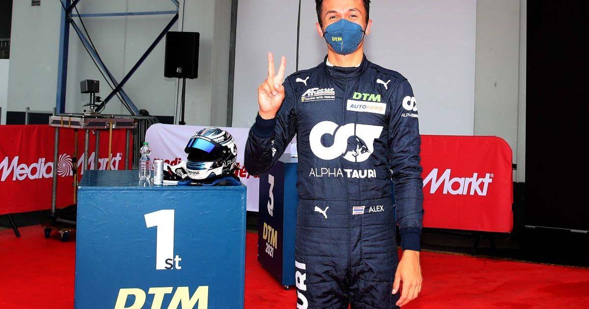 Alex Albon wins his first DTM race. August 2021.