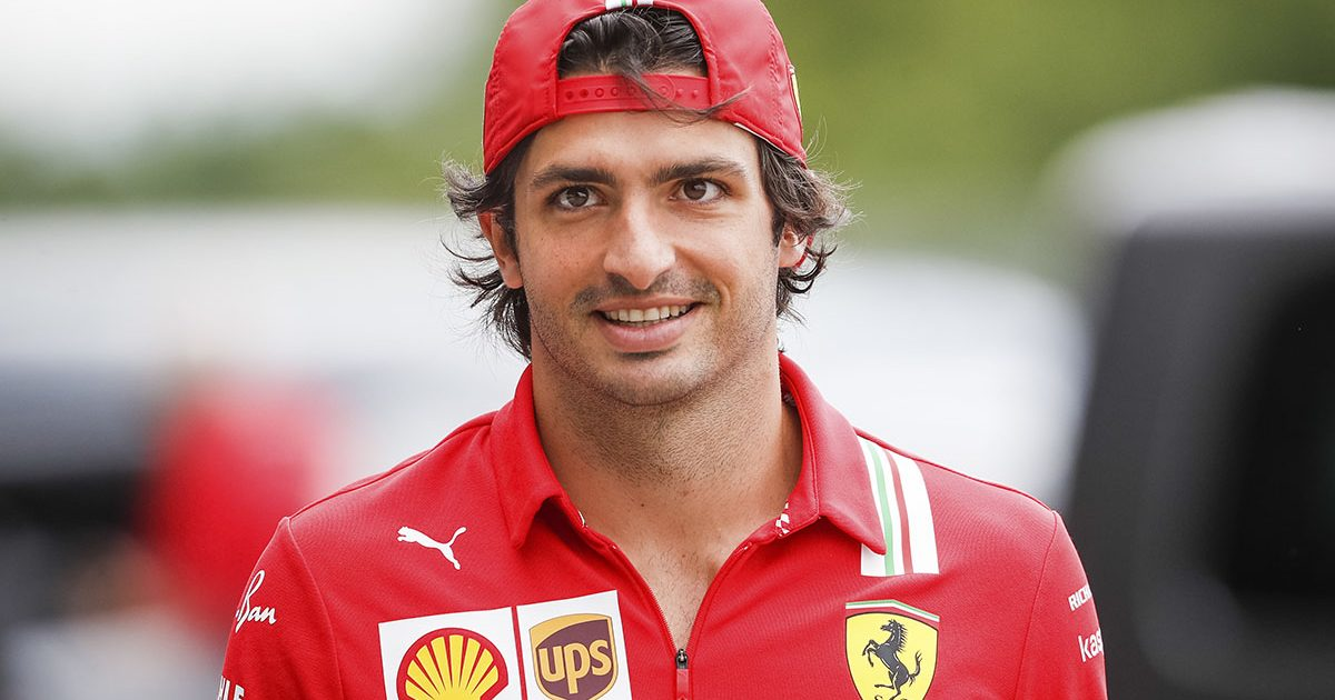 Ferrari driver Carlos Sainz in the paddock at the Hungarian Grand Prix. Budapest July 2021