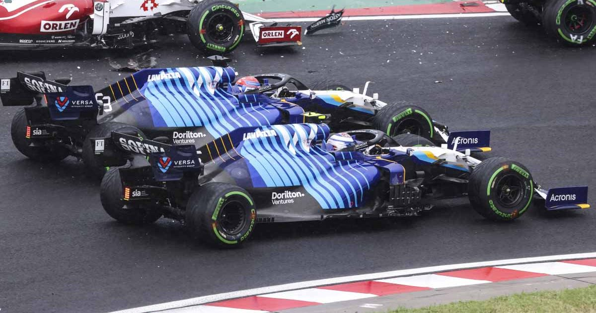 George Russell and Nicholas Latifi side by side in Hungary.