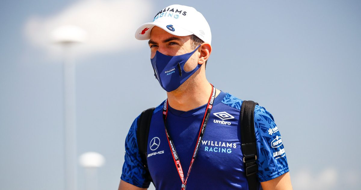 Nicholas Latifi [Williams] arriving at Silverstone. July 2021.