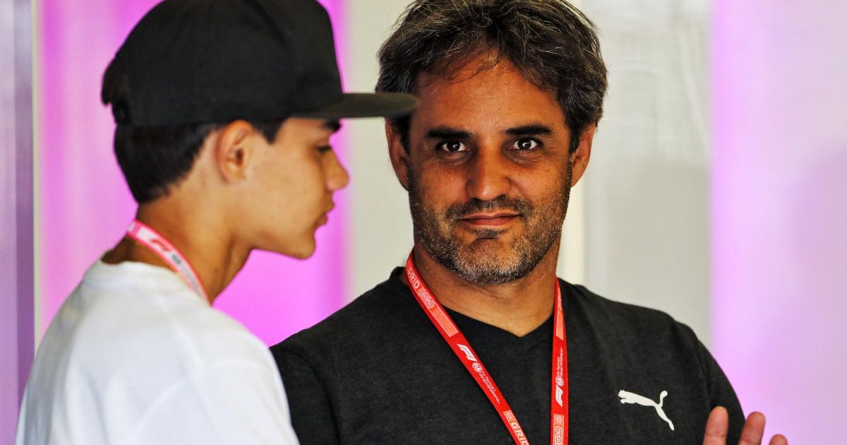 Juan Pablo Montoya with son, Sebastian