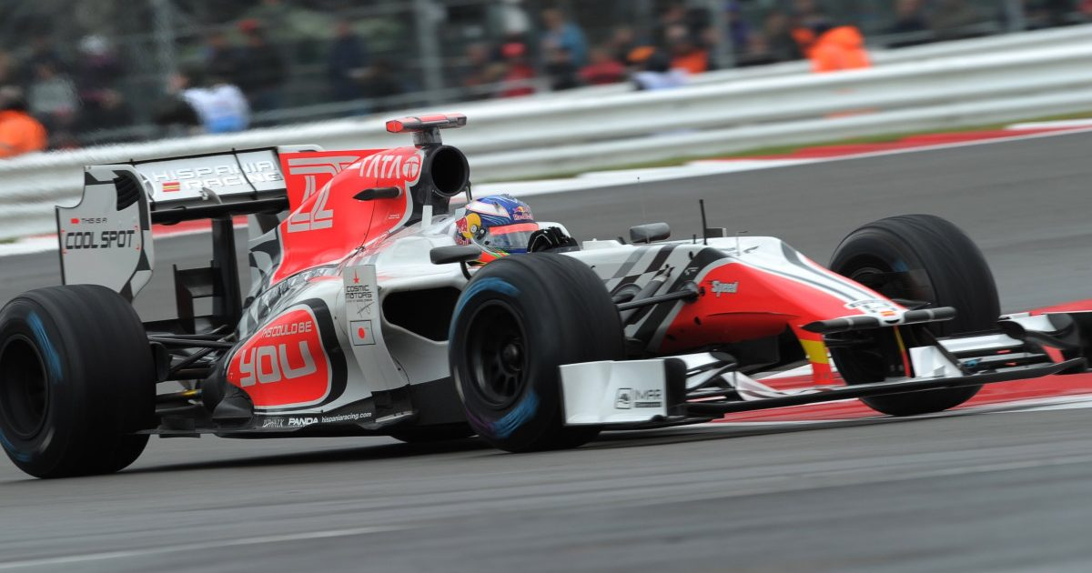 Daniel Ricciardo, on debut, driving for HRT. Silverstone, 2011.