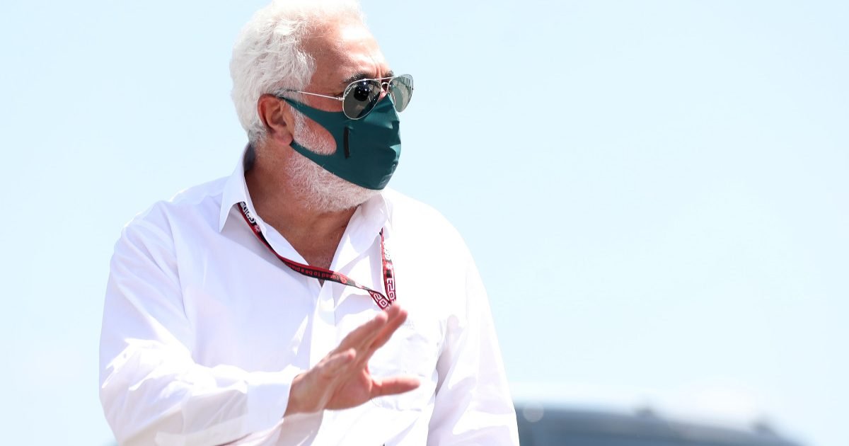 Lawrence Stroll arrives for the British GP. July 2021.