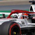 Kimi Raikkonen driving Alfa Romeo. Hungary July 2021