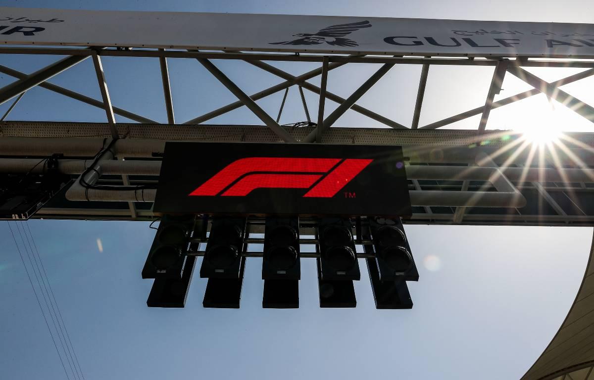 Formula 1 logo displayed on gantry planetF1.