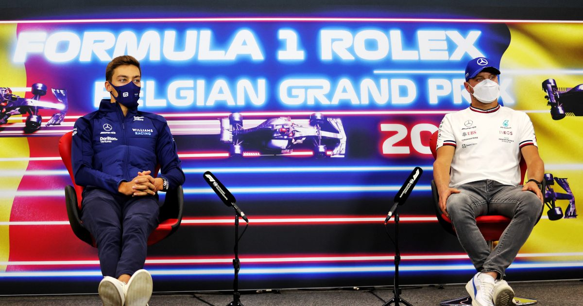 George Russell and Valtteri Bottas press conference. Belgium August 2021