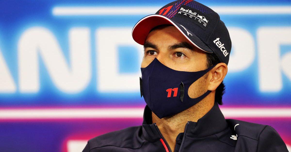 Sergio Perez speaks ahead of the Belgian Grand Prix. August 2021.