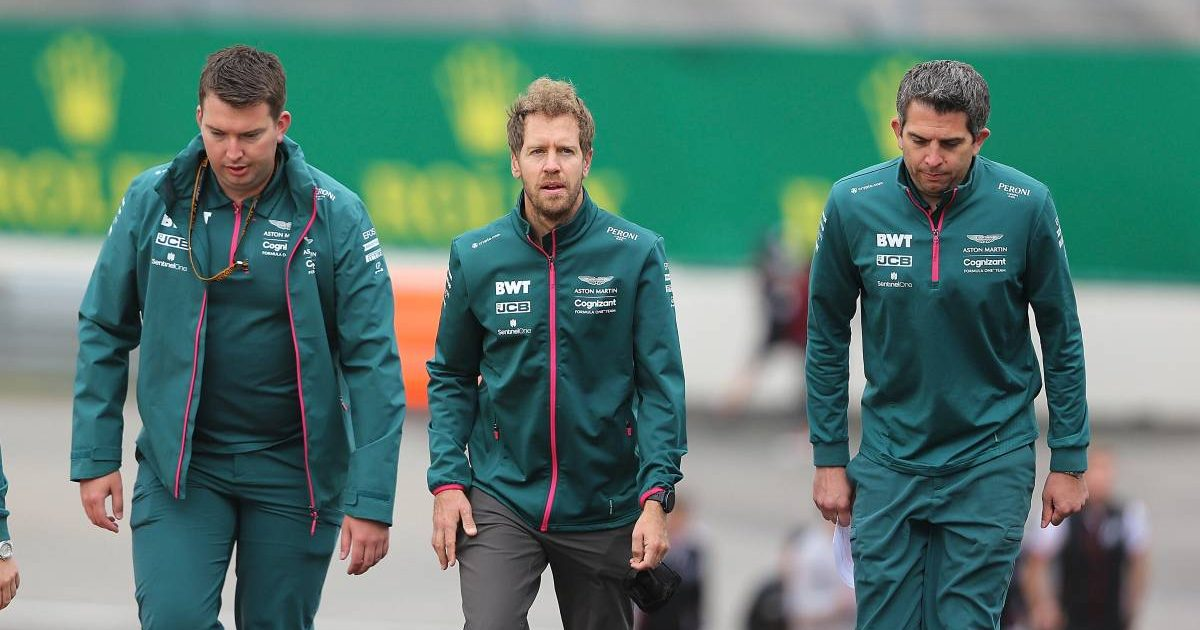 Sebastian Vettel during a track walk ahead of the Belgian GP. Spa-Francorchamps August 2021.