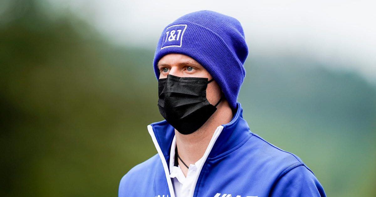 Mick Schumacher walks Spa-Francorchamps. August 2021.
