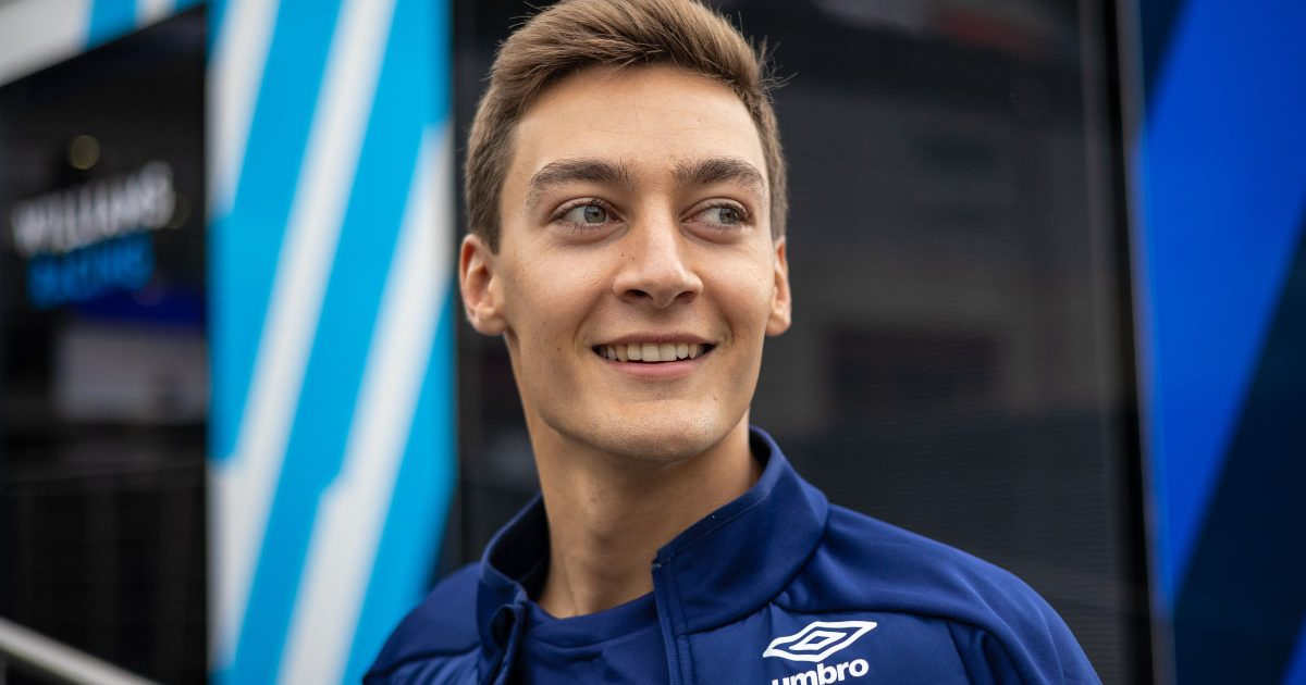 George Russell at the 2021 Belgian GP.
