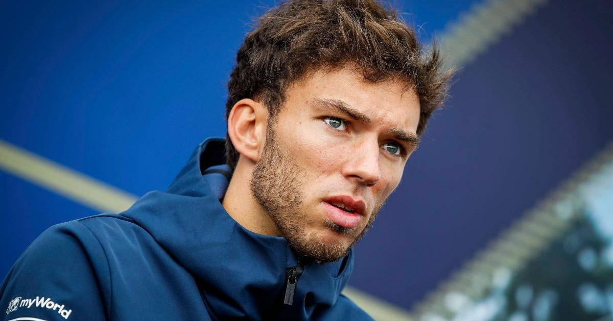 Pierre Gasly speaking prior to the Belgian Grand Prix. August, 2021.