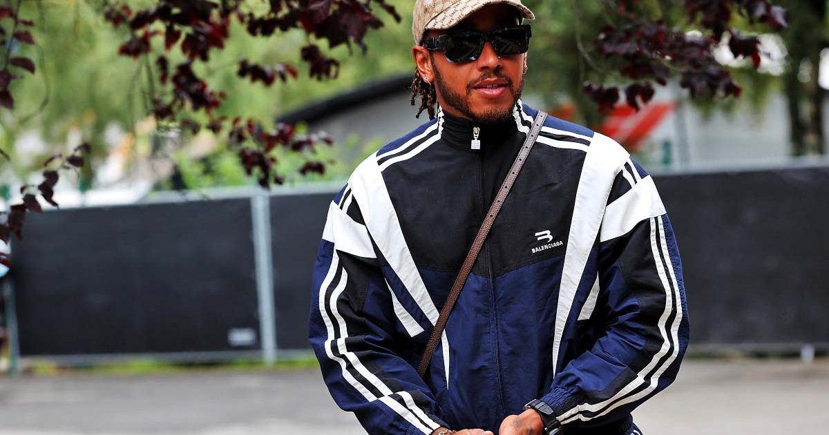 Lewis Hamilton in the paddock at Spa-Francorchamps. August 2021.