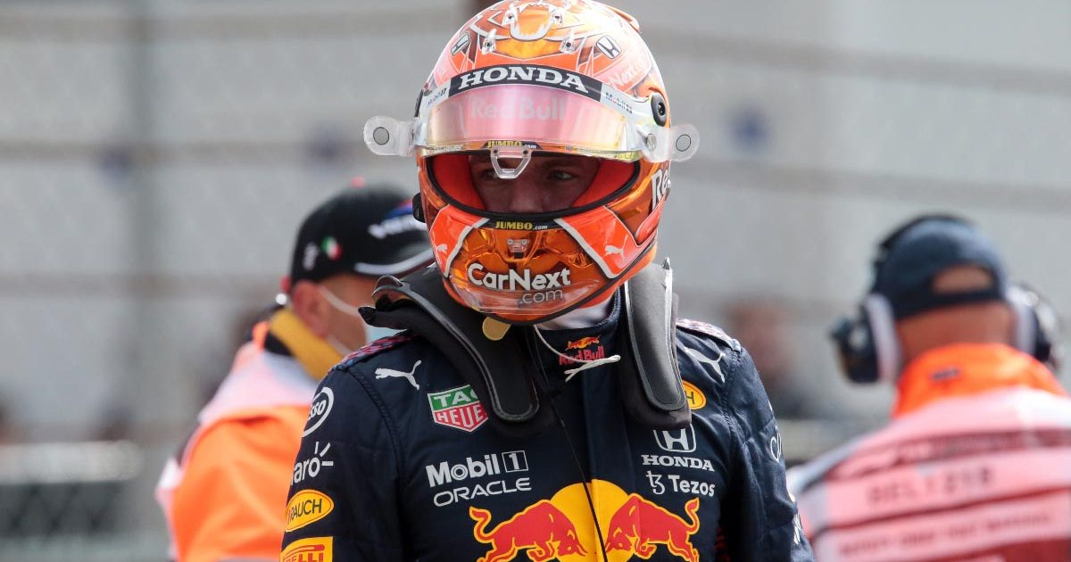 Max Verstappen after his crash at Spa in FP2. August 2021.